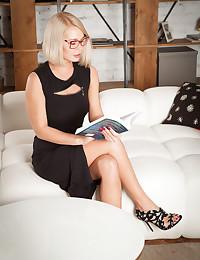 Sarika A nude in erotic READING GLASSES gallery - MetArt.com