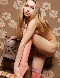 An erotic combination of feminine feet, legs and stockings.