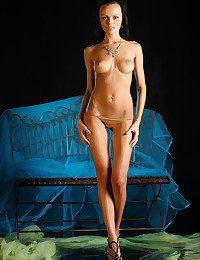 An arresting erotic display of petite, wet body.
