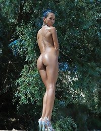 Alfresco charmer not far from a hot body and erotic poses.