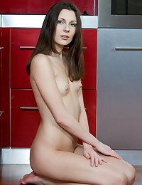Crippling a bright red dress, Quinn is a sumptuous feast for the kooky painless she showcases her smooth, fair-skinned body and fresh assets on the kitchen.
