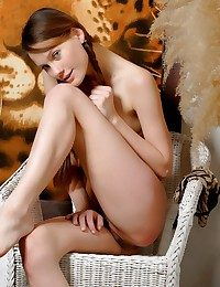 Cute with an increment of girly chip divide up in animal imitate pantalettes with an increment of pigtails.