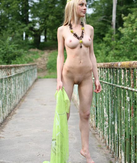 Nude young blonde