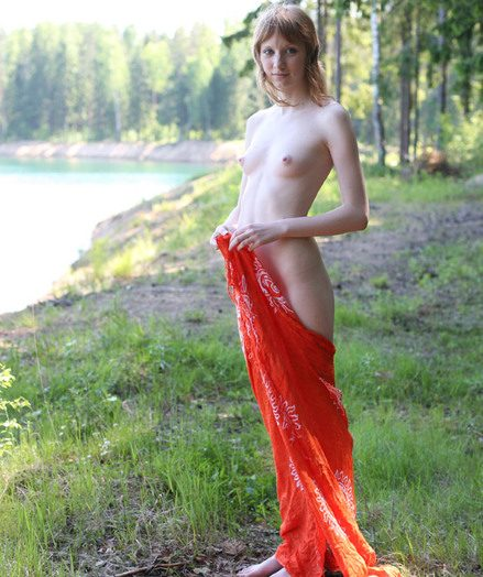 Stark naked maturing into the open air