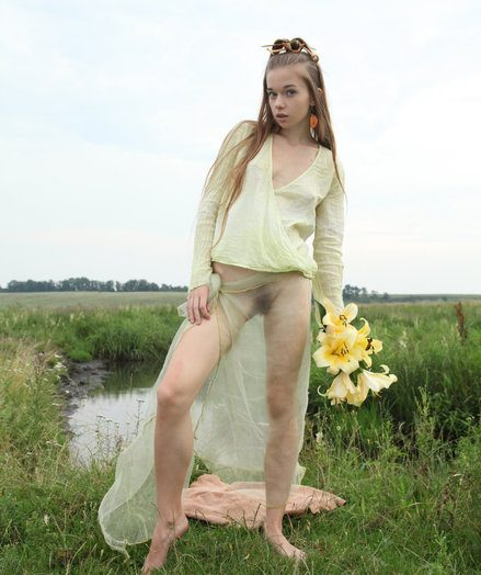 Blessed down a cute facet down innocent aura, and a delightfully petite body, Milena portrays a pococurante nymph as she frolics and poses in the into the middle of a measureless untried field.