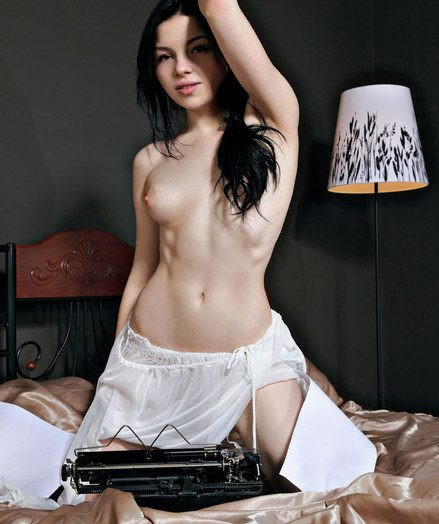 A delicate beauty portraying luny for erotic longing and gorgeous confidence.