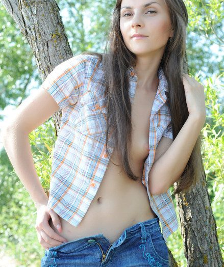 Pure, uninhibited sensual beauty set just about the wilderness.