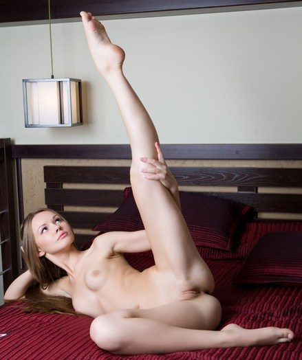 Fun, carefree cutie with flexible and nubile physique.