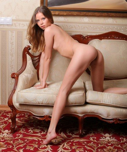 Nubile beauty with fresh, pink tits and youthful body.