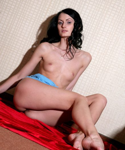Gaunt grown snug titted and sexy brunette Katerina