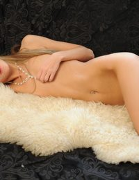 Extra slim blonde chick